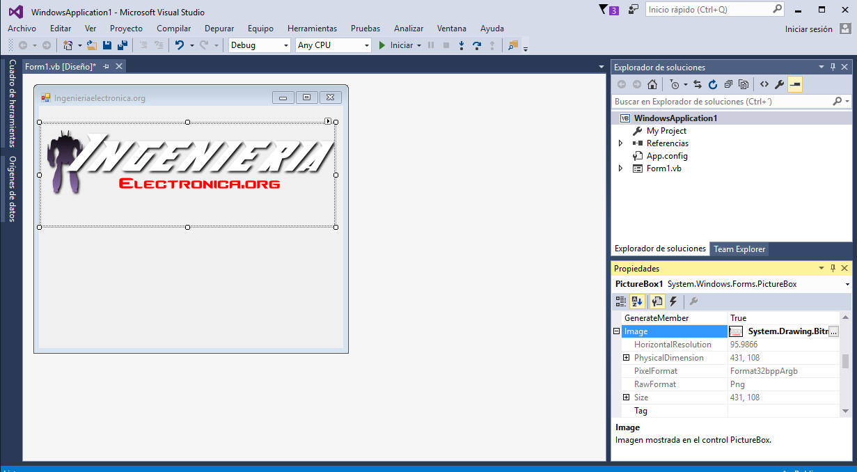 Visual Studio PictureBox